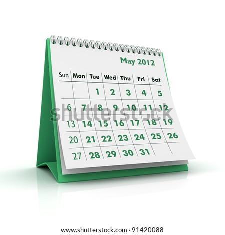 2012 calendar. May