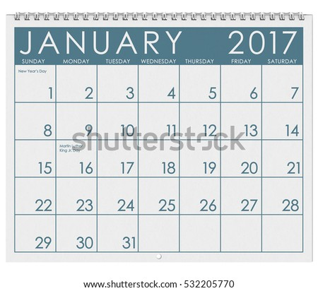 stock photo: january 2017