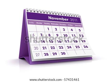 2011 Calendar. November