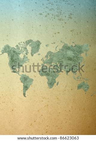 2012 calendar on World map background