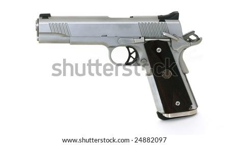 45 caliber pistol - stock photo