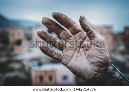 Callus Old Man Hand life Stok fotoğraf ©