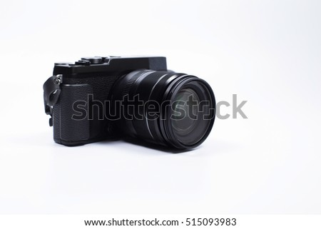 camera on the white
