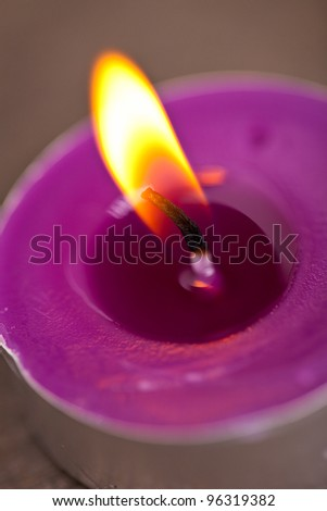 candel with flamme