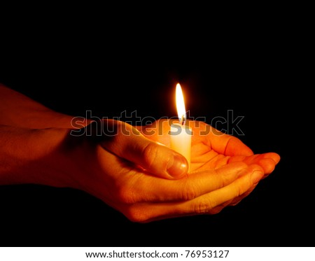 candle in a hand