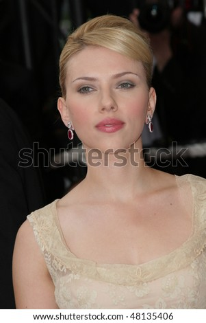 CANNES, FRANCE - MAY 12: Actress Scarlett Johansson attends the premiere of the film 'Match Point' at the Palais during the 58th International Cannes Film Festival May 12, 2005 in Cannes, France