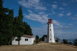 Cape Mudge Lighthouse ,Quadra island, British Columbia Canada