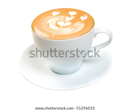 cappuchino cup.coffee.isolated on white background