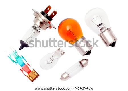 Car bulbs and fuses.