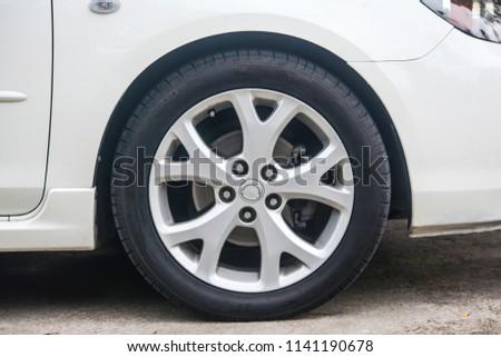 Car wheel on a car #1141190678
