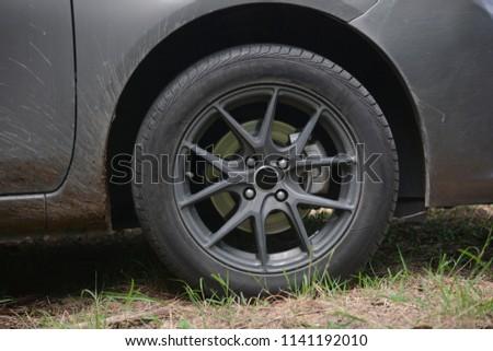 Car wheel on a car #1141192010