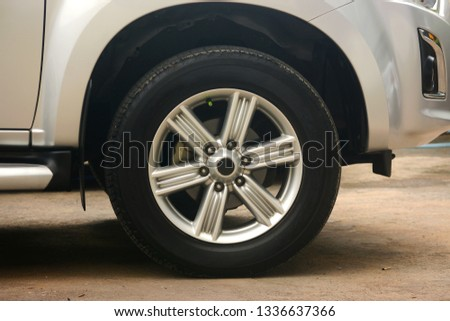 Car wheel on a car #1336637366