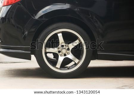 Car wheel on a car #1343120054