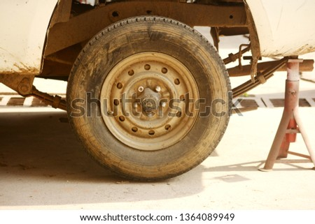 Car wheel on a car #1364089949