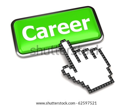 Career button and hand cursor
