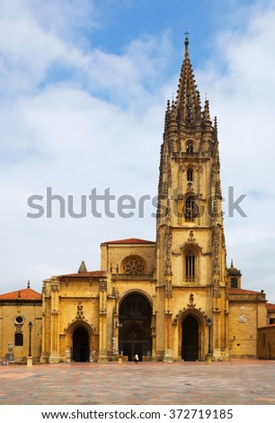 Cathedral of San Salvador   in  Oviedo.   Spain