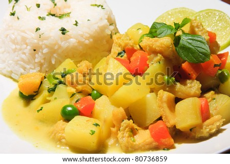 """Cau cau"" potato peruvian recipe with chiken or Cow Meal"