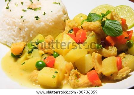 """Cau cau"" potato peruvian recipe with chiken or Cow Meal"