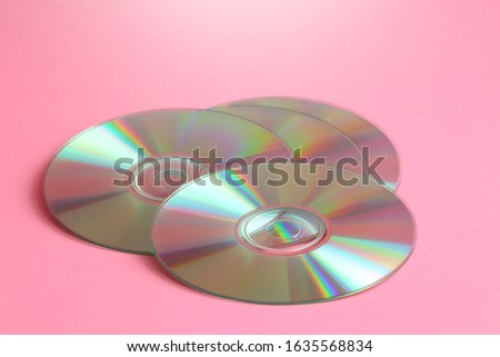 CD and DVD compact discs collection. CD and DVD background concept.