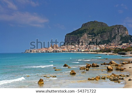 cefalu harbor in Sicily