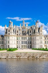 Chambord castle in France, beautiful French heritage, panorama