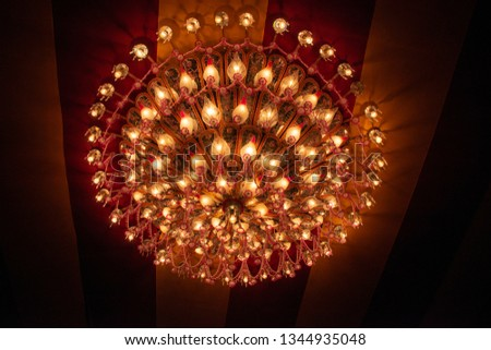 Chandelier, light chandelier black background