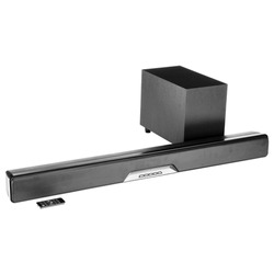 2.1 Channel Soundbar System with Wireless Subwoofer & Digital Amplifier Isolated. Data Surround Speakers. Acoustic Audio Sound Stereo System. Loudspeakers. Home Theatre Entertainment System
