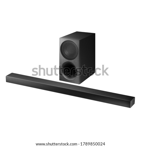 3.1 Channel 340W Soundbar System with 7 inches Wireless Subwoofer Isolated. Data Surround Speakers. Acoustic Audio Sound Stereo System. Loudspeakers. Home Theatre Entertainment System