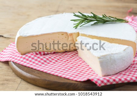 cheese head of Brie cheese