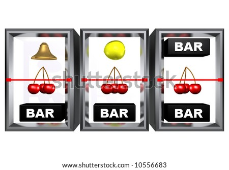 3 cherries on a line, slot machine