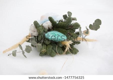 Chic bouquet of unusual materials