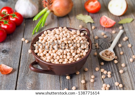 chick pea and vegetables
