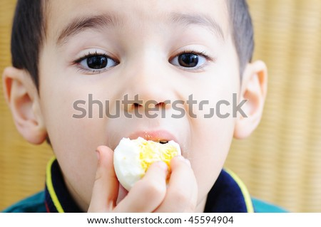 Child with egg