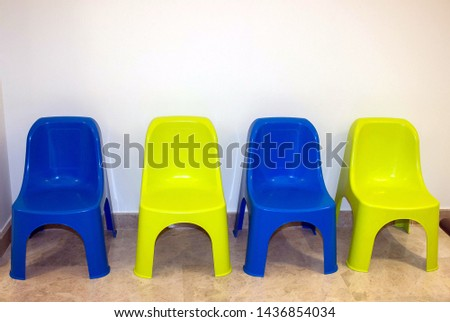 children's chairs, blue and pistachios #1436854034