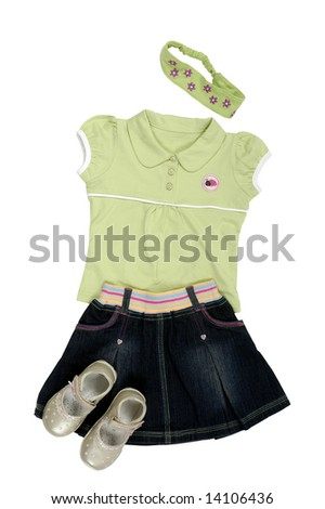 Children's clothes isolated on a background