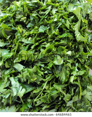 chopped parsley and dill #64684465