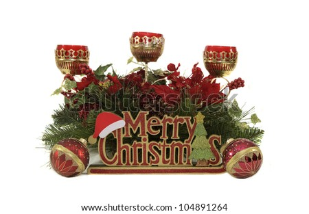 """""""Christmas by Candlelight"""" -- A set of Christmas decorations make for perfect holiday display"""