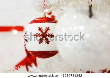 Christmas decorations, Christmas decorations, preparing for the celebration of the new year