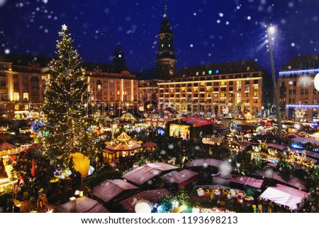 Christmas market in Dresden, Germany #1193698213