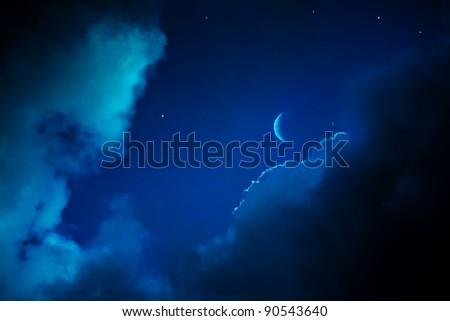 christmas night sky background