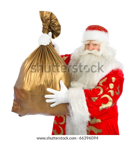 Christmas Santa. Isolated over white background