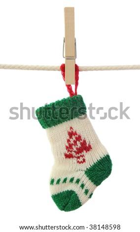 Christmas sock isolated on white background
