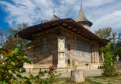 church decorated of paintings is cultural attraction from Romania