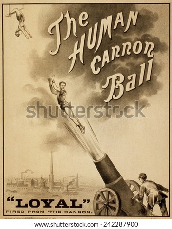 1879 circus poster for human...