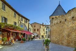 Cite de Carcassonne is a medieval citadel located in the French city of Carcassonne. Street in town