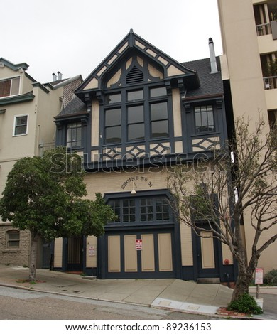 Classic fire department building in San Francisco