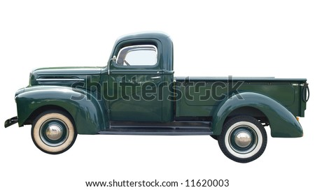 1948 Classic Pick Up Isolated with clipping path