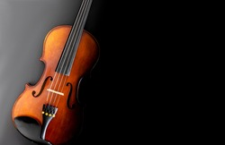 classical violin with black background top view wallpaper