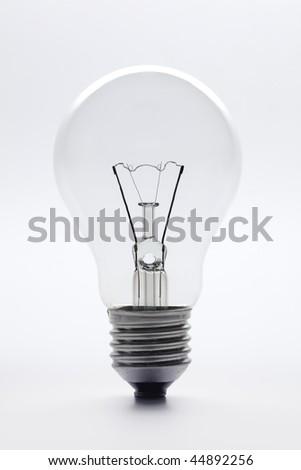 Clear lightbulb on white background #44892256