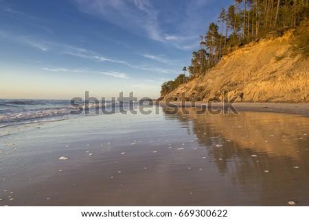 Cliff reflection Zdjęcia stock ©